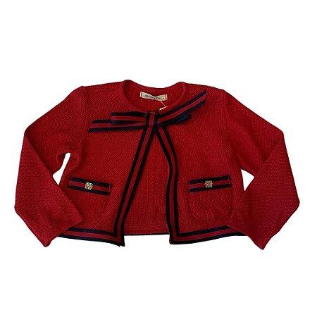 UM MAIS UM casaco linha vermelho fita marinho 2 anos