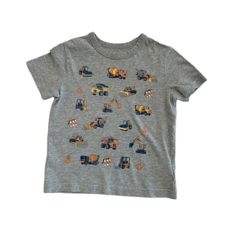 BABY GAP camiseta cinza caminhões obra 2 anos