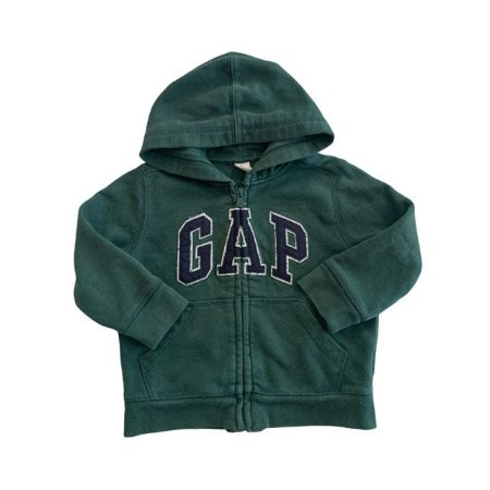 BABY GAP casaco moletom capuz verde 2 anos (apresenta marcas de uso)