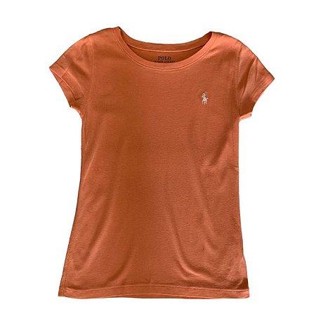RALPH LAUREN camiseta lisa salmão 8-10 anos