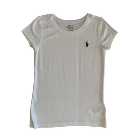 RALPH LAUREN camiseta lisa branca 8-10 anos