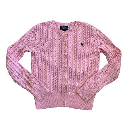 RALPH LAUREN casaco de linha rosa 8-10 anos