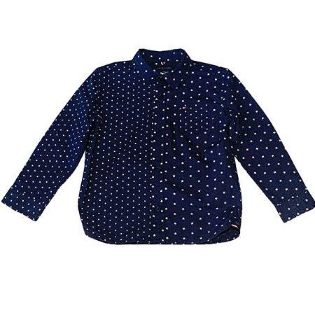 TOMMY HILFIGER camisa social azul marinho estp estrelas 4 anos
