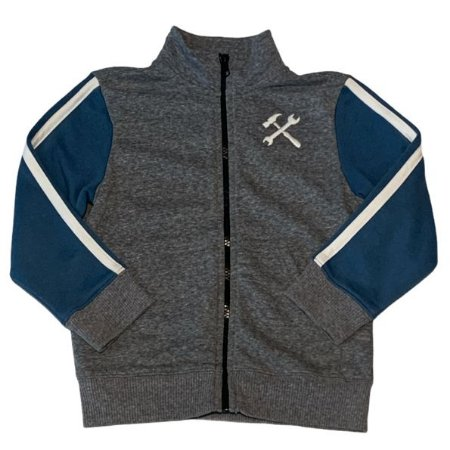 GYMBOREE casaco moletom cinza fecho mg azul 4 anos