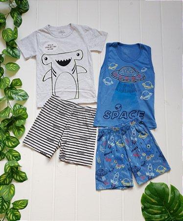 Pijama Infantil Masculino - Combo 2 Unidades