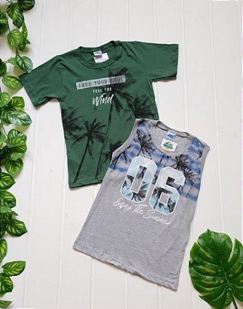 Camiseta Juvenil Masculina - Combo 2 peças