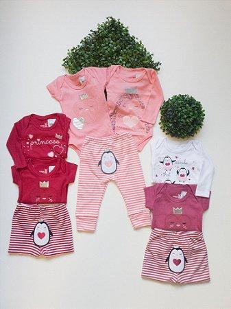 Combo 3 Peças Bebê - Composê Menina