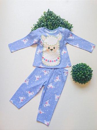 Pijama Lhama 1 a 3 Fem Longo - Kyly