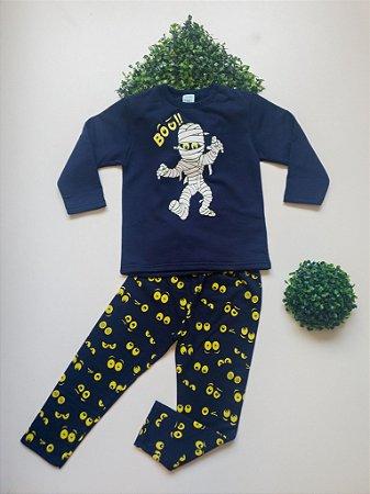 Pijama Múmia 4 a 8 Masc Moletom - Kyly