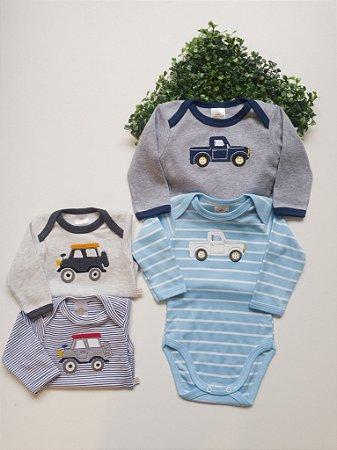 Combo 2 Bodys Bebê Masculino