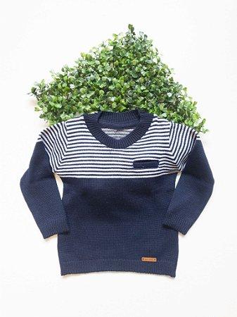 Blusão Bebê Masculino Tricô