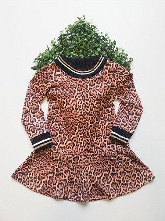 Vestido 1 a 4 Feminino Animal Prnt
