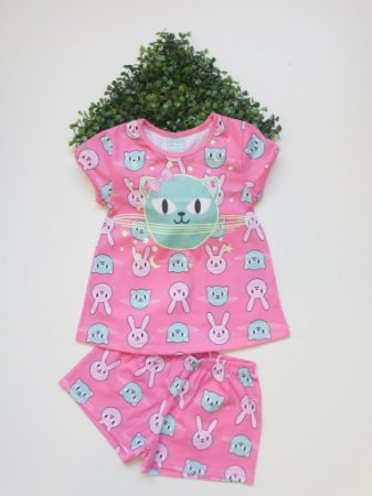 Pijama 4 a 8 Feminino Curto