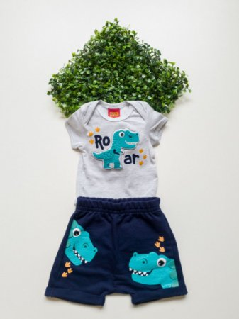 Conjunto Dino Bebê Masculino