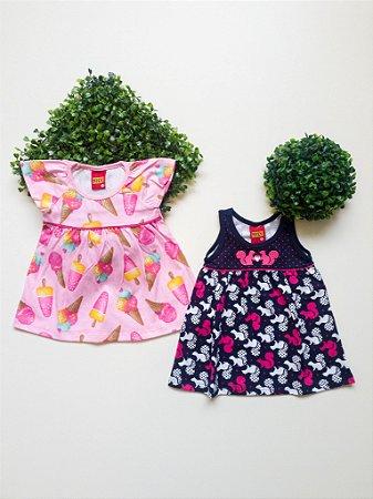 Combo 2 Vestidos Bebê Feminino