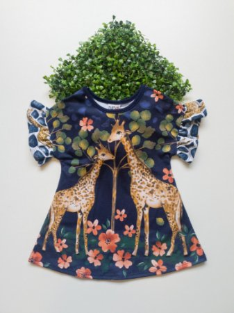 Vestido Girafa 1 a 3 Feminino