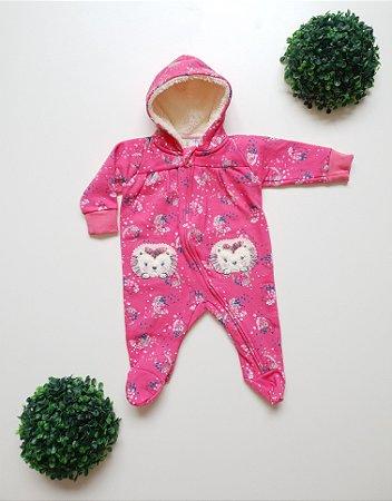 Macacão Longo Moletom Bebê Fem - Kiko Baby