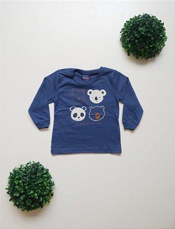 Camiseta Urso Bebê Masc - Kiko e Kika