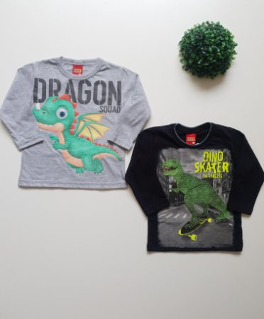 Combo 2 Camisetas 1 a 3 Masc - Kyly