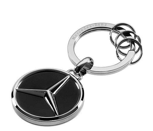 Chaveiro Vancouver Aço Inox Mercedes-Benz Preto/Prata