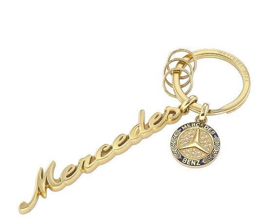 Chaveiro Clássico Ouro Aço Inox Feminina Mercedes-Benz