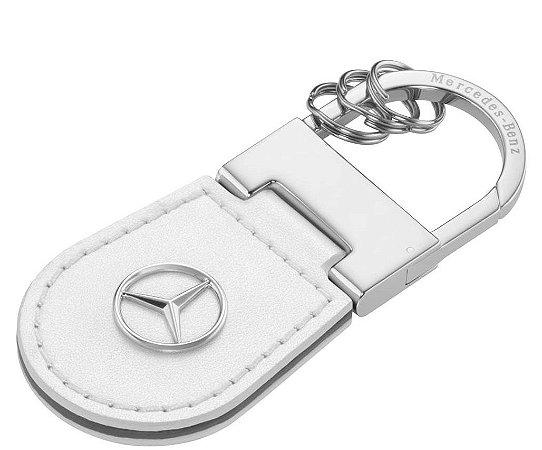 Chaveiro Shangai Couro Mercedes-Benz Branco