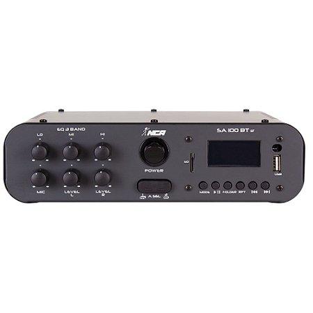 Amplificador Compacto Para Som Nca SA100 BT ST 100 WRms