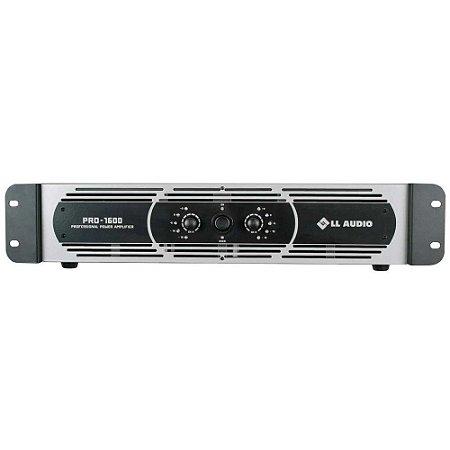 Amplificador profissional LL Audio Pro1600 Classe D 400W Rms