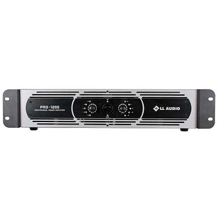 Amplificador profissional LL Audio Pro1200 Classe D 300W Rms