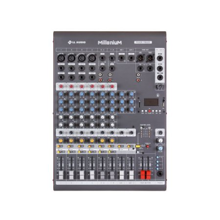 Mesa de som Mixer LL Audio M802D 8 canais Phantom Power