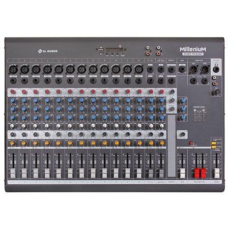 Mesa de som Mixer LL Audio Millenium MX1602D 16 canais