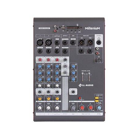 Mesa de som Mixer LL Audio Millenium MX402R 4 canais