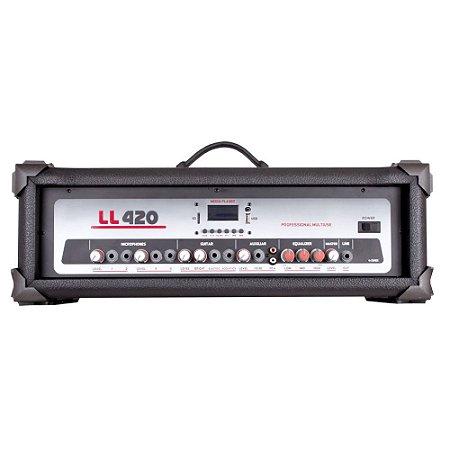 Cabeçote Amplificado Multiuso LL Audio LL420 BT 100 Wrms