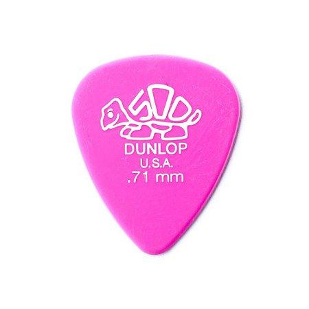 Palhetas Dunlop Delrin 500 0,71 mm Kit com 6