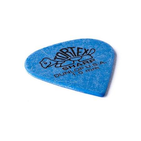 Palhetas Dunlop Tortex 1.00 mm Azul Kit com 6