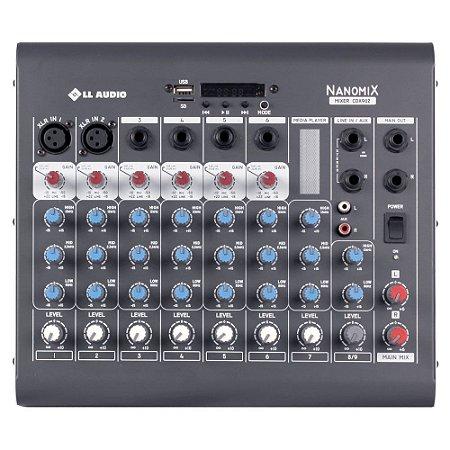 Mesa De Som Mixer Nanomix CDX LL Audio CDX902 8 Canais