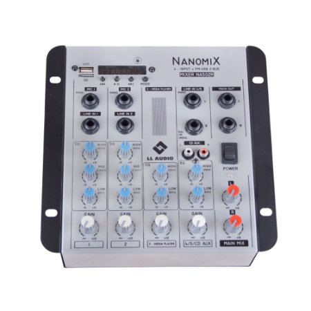 Mesa De Som Mixer Nanomix LL Audio Na502R BT 4 Canais
