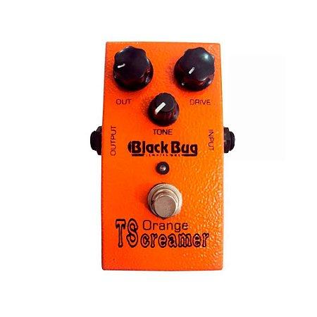 Pedal para Guitarra Black Bug Distortion Orange Tscreamer