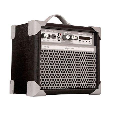 Caixa De Som Amplificada Multiuso Up!5 Black FM/USB/BT