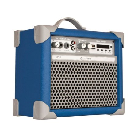 Caixa De Som Amplificada Multiuso Up!5 Sky Blue FM/USB/BT