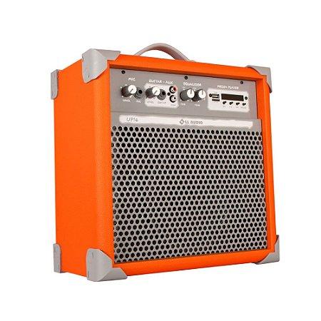 Caixa De Som Amplificada Multiuso Up!6 Light Orange Fm/BT
