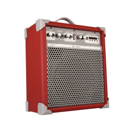 Caixa de Som Amplificada Multiuso Up!8 Deep Red FM/USB/BT
