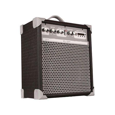 Caixa de Som Amplificada Multiuso Up!8 Black FM/USB/BT
