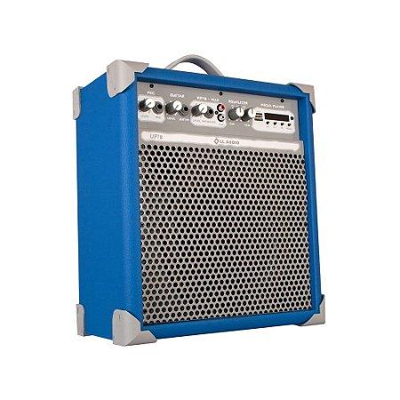 Caixa de Som Amplificada Multiuso Up!8 Sky Blue FM/USB/BT