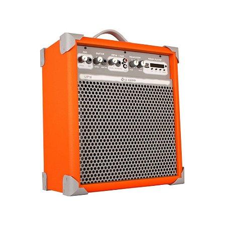 Caixa Som Amplificada Multiuso Up!8 Light Orange FM/USB/BT
