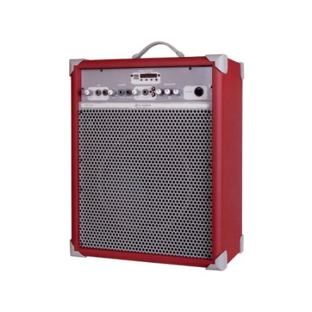 Caixa de Som Amplificada Multiuso Up!10 Deep Red FM/USB/BT
