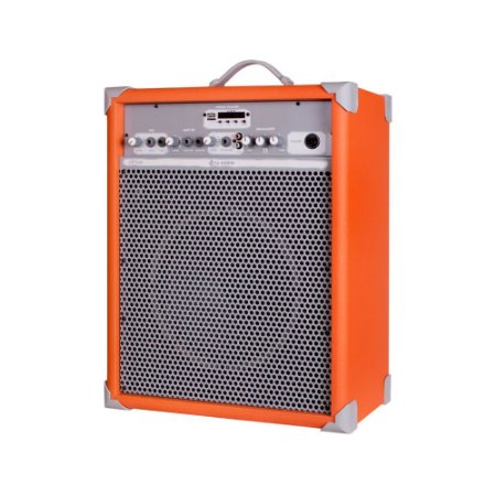 Caixa Som Amplificada Multiuso Up!10 Light Orange FM/USB/BT