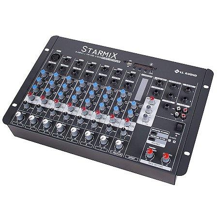 Mesa De Som Mixer Ll Audio Usfx802r Bt 8 Canais Bluetooth
