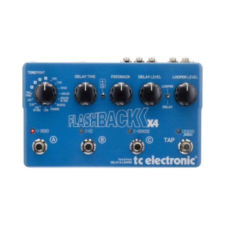 Pedal de Guitarra TC Electronic FlashBack X4 16 tipos Delay