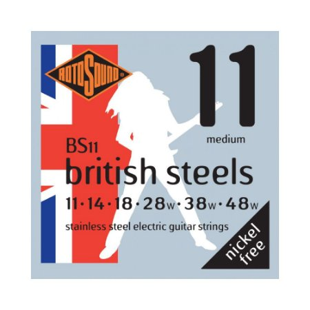 Encordoamento para Guitarra Rotosound British Steels BS11